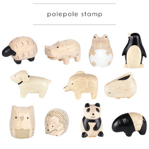 Wooden Cute Animal Stamp (polepole stamp) single - 木製可愛小動物 迷你印章 單款