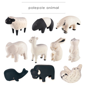 Wooden Cute Animal (polepole animal) Part 1 - single  - 木製可愛小動物 單款 Part 1