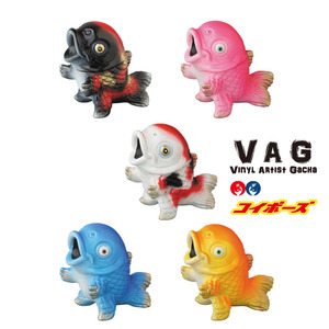Vinyl Artist Gacha series 8 - Koibouz by TAKEPICO - set of 5pcs - VAG 藝術家軟膠扭蛋 第八彈 - TAKEPICO - 鯉魚小怪獸 - 一套五款