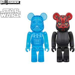 100% Bearbrick 2pack - Star Wars - Darth Vader (Holographic ver.) & Darth Maul - 星際大戰 100%小熊雙人組 - 投影黑武士 & 達斯魔