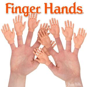 Archie McPhee Finger Hands - assortment - 玩偶指套 小手手 - 隨機單抽