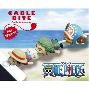 Cable Bite Cable Accessory for iPhone - One Piece - Luffy / Chopper / Zoro - iPhone充電線用 咬線裝飾保護套 - 海賊王 - 魯夫 / 喬巴 / 索隆