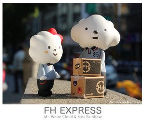 Fluffy House FH Express Mr. White Cloud & Miss Rainbow - FH快遞裝扮 白雲先生 & 彩虹小姐 組合