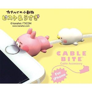 Cable Bite Cable Accessory for iPhone - Kanahei - Usagi / Piske - iPhone充電線用 咬線裝飾保護套 - 卡娜赫拉的小動物(P助與兔兔) - 兔兔 / P助
