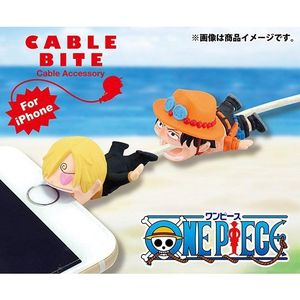 Cable Bite Cable Accessory for iPhone - One Piece - Sanji / Ace - iPhone充電線用 咬線裝飾保護套 - 海賊王 - 香吉士 / 艾斯