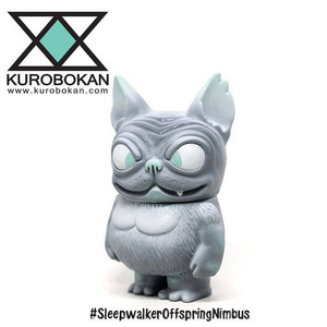 KUROBOKAN Sofubi (Soft Vinyl Figure) - Sleepwalker Offspring Pebble ver. - Kurobokan 軟膠玩偶 - 夢遊者後裔 卵石灰