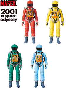 MAFEX 2001: A Space Odyssey by Stanley Kubrick - Space Suit Orange / Yellow / Green / Blue - MAFEX 2001太空漫遊 - 太空裝 橘 / 黃 / 綠 / 藍 色款