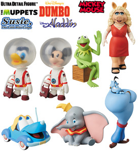 UDF Disney seires 8 - Single: Kermit the Frog / Miss Piggy / Susie / Dumbo / Genie / Astronaut Donald Duck Vintage Toy ver. / Astronaut Mickey Mouse Vintage Toy ver. - UDF 迪士尼系列 第8彈 - 單款: 柯米蛙 / 豬小姐 / 蘇茜 / 鄧波 / 神燈精靈 / 太空裝唐老鴨 老玩具版 / 太空裝米奇 老玩具版