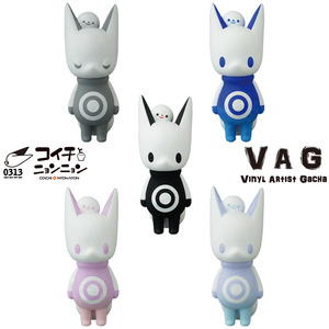 Vinyl Artist Gacha series 18 -  Coichi & Nyon-Nyon by 0313 - assortment (buying 5pcs means a set)  - VAG 藝術家軟膠扭蛋 第18彈 0313 小狐&扭扭 - 隨機單抽