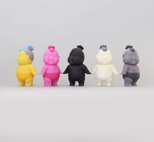 Unbox industries X Jim Dreams - Chubbi Chunk - Yellow / Pink / Black / White / Grey - Chubbi Chunk - 黃 / 粉紅 / 黑 / 白 / 灰 色款