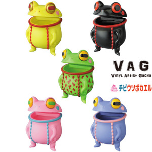 Vinyl Artist Gacha series 19 - Chibi Utsubo Kaeru (Kid Moray Frog) by Skulltula - assortment (buying 5pcs means a set)  - VAG 藝術家軟膠扭蛋 第19彈 小朋友海鰻蛙 - 隨機單抽 (成套購買請選五的倍數)