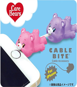 Cable Bite Cable Accessory for iPhone - Care Bears - Cheer Bear / Share Bear - iPhone充電線用 咬線裝飾保護套 - 關懷小熊 - 開心熊 / 分享熊