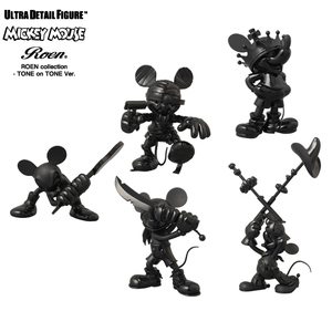 UDF Disney Roen Collection Tone on Tone - Mickey Mouse Guitat / Crown / Mummy / Pirate / Two-Gun ver. - UDF 迪士尼 X Roen聯名系列 全黑配色 - 米奇 砸吉他 / 皇冠 / 木乃伊 / 海盜 / 雙槍 版本
