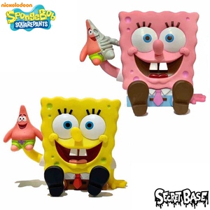 Secret Base X Nickelodeon 1ft Spongebob Vinyl Figure - Full Color Yellow / Pink ver. - 1呎大海綿寶寶 搪膠人偶 - 全彩 黃色 / 粉紅色 版本