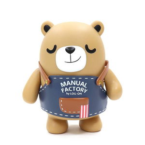 Unbox industries X Log-On Vinyl Figure - Manual Factory Bear  - MF熊