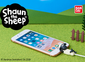 Cable Bite Cable Accessory for iPhone - Sahun the Sheep - Shaun - iPhone充電線用 咬線裝飾保護套 - 笑笑羊 - 尚恩