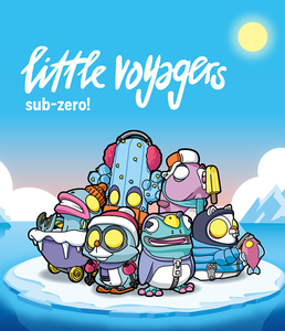 POP MART X COARSE Little Voyagers -Sub-Zero!- series - display case of 6pcs - 小小冒險家系列4 -冰點- 盒玩系列 - 中盒內含6抽